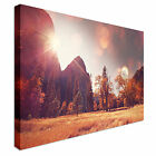 Red Sunset and Countryside Canvas Art Cheap Wall Print Home Interior