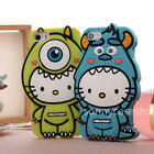 Cute Sulley Mike Cat Soft Silicone Fitted Case cover for Apple iphone 6S PLUS 5S