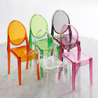 Plastic Chair Furniture Barbie Blythe Color Transparent Dollhouse Miniature 1:6
