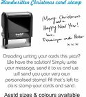 PERSONALISED / CUSTOMISED HANDWRITTEN CHRISTMAS RUBBER STAMP, IDEAL FOR CARDS