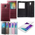 Luxury View Flip PU Leather Battery Case Cover For Samsung Galaxy Note 4 N9100