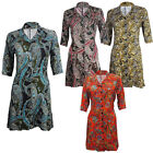 Ladies Womens Girls Casual Tie Back Shirt , Skater  Dress Tunic UK Size 8-14