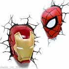 3D FX Marvel Lights - Spiderman Iron Man 3D Deco Wall Night Light - Genuine