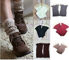 Women's/Girl Nice Crochet Lace Knitted Boot Cuffs Toppers Leg Warmers Boot Socks