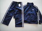 ADIDAS NWT Boy Jacket Pant Track Suit Warm Up Navy Blue 12 18 24 12M 18M 24M