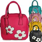 Ladies Floral Daisy Flower Faux Leather Grab Bag Handbag Shoulder Bag HM14802