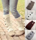 Women's Soft Crochet Knitted Lace Trim Boot Cuffs Toppers Leg Warmers Soft Socks