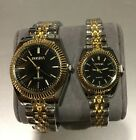 Couple Lover Womens Mens Watch Quartz new Design Dial Stainless Steel Strap