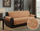 Внешний вид - New Quilted Microsuede Pet Dog Couch Sofa Furniture Protector Cover Kashi Camel