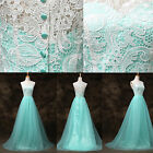 LACE Masquerade Mint Formal Long Ball Gown Party Prom Bridesmaid Evening Dresses