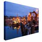 Fishing harbour in Weymouth Canvas Art Cheap Wall Print Home Interior