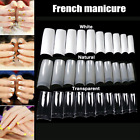 500 PCS Natural False Acrylic UV Gel Half French Nail Art Tips Tools