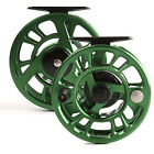 3/4 5/6 7/8 Weight Trout Fly Fishing Reel Adjustable Drag Green With Reel Bag