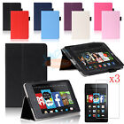 Folio PU Leather Stand Smart Case Cover+Screen Film For Amazon Kindle Fire HD 6