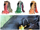 Soft Pure Indian Linen Decor Scarves Light Weight with decorative trimming D01