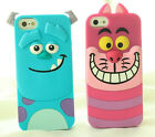 Cute 3D Animal Tigger Cat Dog Soft Rubber Case Cover For Iphone 5/S 6 6 Plus 5.5