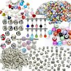Bulk Lots of Charms Glass Beads Pendants Stoppers For European Charm Bracelets