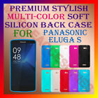 ACM-PREMIUM RICH MULTI-COLOR SOFT SILICON BACK CASE for PANASONIC ELUGA S COVER