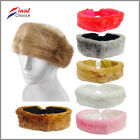 Ladies Womens Plain Soft Warm Fluffy Fake Faux Fox Fur Headband Ear Warmer »