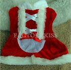 Pet Puppy Dog Christmas Santa Claus Style Costume Outfit Clothing Coat Cute GBW