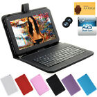"""9"""" Google Android 4.4 Tablet PC A23 Dual Core 8GB Camera Wi-Fi w/ Black Keyboard"""