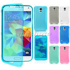 New Slim Clear Soft Flip TPU Gel Silicone Case Cover For Samsung Galaxy S5 i9600