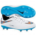 Nike Hyper Venom FG  Phelon 2014 Soccer SHOES White / Bue / Coral KIDS - YOUTH
