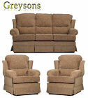 NEW BALMORAL HIGH BACK FABRIC SOFA SETTEE / 3 PIECE SUITE / 3 SEATER / ARMCHAIR