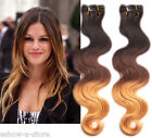 New 100g/Bundle Clip In Ombre Brazilian Body Wave Hair Extension 3Tone 1B/33/27
