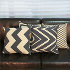 4 Patterns Simple Lines Home Decorative Sofa Pillow Case Cushion Cover