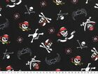 Cotton-Jersey, skull, pirate, app. 150cm wide