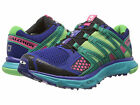SALOMON Womens XR MISSION W Blue/Emerald Green/Pink Mesh Running Shoes L36953300