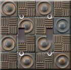 Light Switch Plate Cover - Industry ceramic bronze faux finish - Mosaic tile art