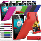PU Leather Top Flip Case Skin Phone Cover+Pen+Film for Vodafone Phones