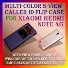 S-VIEW WINDOW INTERACTIVE LEATHER FLIP CALLER ID CASE for XIAOMI REDMI NOTE 4G