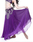 New Professional Dancing Belly Dance Costume 2 layers Long Skirt Dress 10 colors
