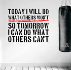 Inspiring Wall Decal Workout Quote Sticker HIIT Boxing Gym Motivational Training