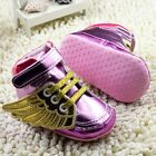 Baby girl pink Crib Shoes soft soled Angel wings Sports shoes Size 0-6-12-18 mth