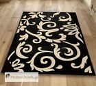 Black and Ivory Damask Design - Great Budget Range - Available 4 Sizes & Runner