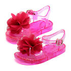 Koala Kids Girls Pink Jelly Sandal with Flower Applique