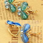 1 Pair Women Crystal Rhinestone Butterfly Ear Studs Earrings Fashion Jewelry WS