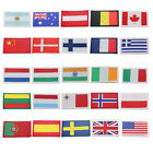DENMARK, FINLAND, FRANCE, GREECE, HOLLAND, HUNGARY,INDIA,IRELAND IRON ON FLAGS