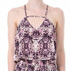 Hidden Fashion Womens Multi Colour Abstract Print Stappy Swing Crop Vest Top