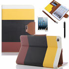 iPad Mini Colorful Leather Wallet Flip Cover Case For New i Pad Mini 3 - 2014
