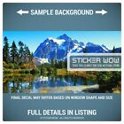 Rear Window Truck Graphic Decal - Mountains Lakes Forest - 3 Sizes Hunt Camp