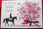 Personalised Handmade A5 Birthday Card -  Horse Rider 12th 13th 16th 18th 1569