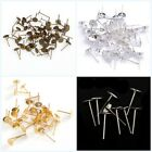 Wholesale Nice 100pcs Flat Earring Earrings Post Stud Jewelry Making Finding12mm