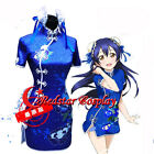Love live Sonoda Umi Girl Sexy Blue Dress cosplay costumes