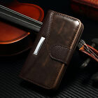 For iPhone 4 4S 5 5S 6 Plus Luxury Leather Case Magnetic Flip Wallet Stand Cover <br/> More Options For Samsung Galaxy Models