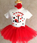 Red Princess Ladybug Crown 1st First Birthday Tutu Outfit Sh